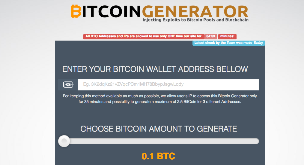Tag: bitcoin generator scam | UK Bitcoin Blog – Bitcoins and